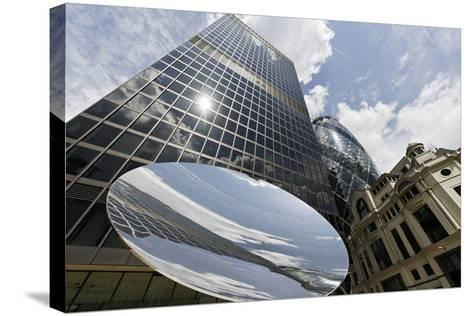 Aviva Tower, Modern Architecture, Saint Mary Axe, London, England, Uk-Axel Schmies-Stretched Canvas Print