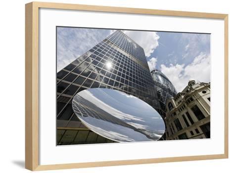 Aviva Tower, Modern Architecture, Saint Mary Axe, London, England, Uk-Axel Schmies-Framed Art Print
