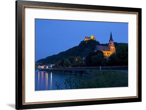 Germany, Rhineland-Palatinate, Middle Rhine Valley, Oberwesel, Middle Rhine-Chris Seba-Framed Art Print