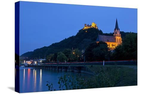 Germany, Rhineland-Palatinate, Middle Rhine Valley, Oberwesel, Middle Rhine-Chris Seba-Stretched Canvas Print