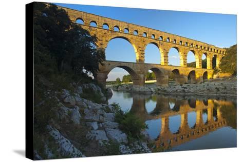 Europe, South of France, Provence, Avignon, Pont Du Gard, Aqueduct-Chris Seba-Stretched Canvas Print
