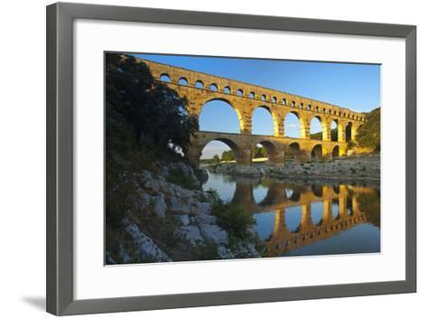 Europe, South of France, Provence, Avignon, Pont Du Gard, Aqueduct-Chris Seba-Framed Art Print