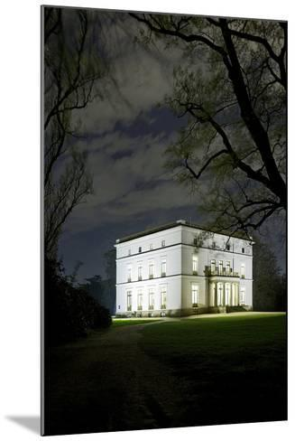 Ernst Barlach House, Museum, at Night, Illuminated, Park-Axel Schmies-Mounted Photographic Print