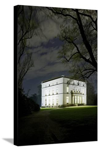 Ernst Barlach House, Museum, at Night, Illuminated, Park-Axel Schmies-Stretched Canvas Print
