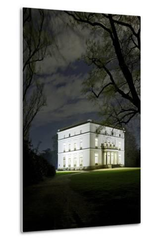Ernst Barlach House, Museum, at Night, Illuminated, Park-Axel Schmies-Metal Print