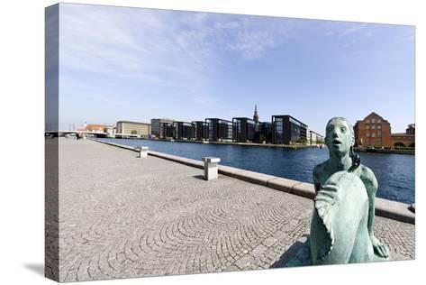 Small Mermaid in Front of the Royal Library, District of Christianshavn, Denmark-Axel Schmies-Stretched Canvas Print
