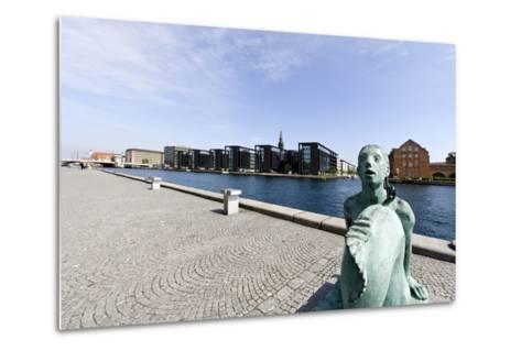 Small Mermaid in Front of the Royal Library, District of Christianshavn, Denmark-Axel Schmies-Metal Print