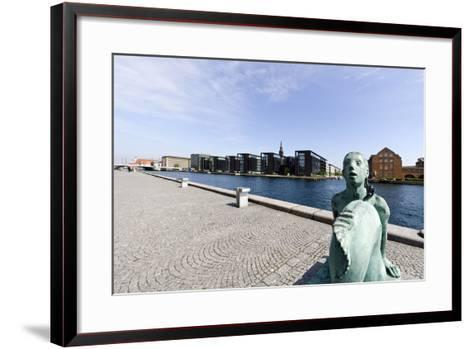 Small Mermaid in Front of the Royal Library, District of Christianshavn, Denmark-Axel Schmies-Framed Art Print