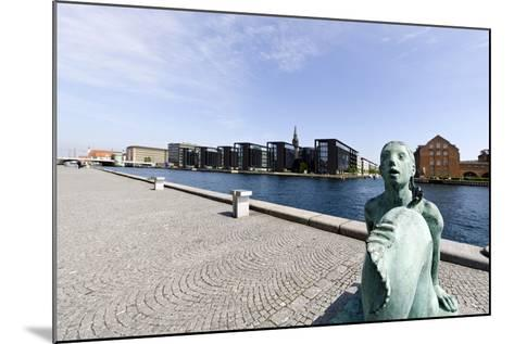 Small Mermaid in Front of the Royal Library, District of Christianshavn, Denmark-Axel Schmies-Mounted Photographic Print