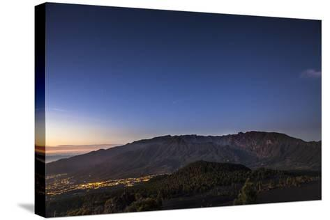 Night Photography with Starry Sky, View on the Caldera De Taburiente-Gerhard Wild-Stretched Canvas Print