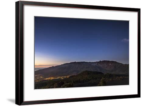 Night Photography with Starry Sky, View on the Caldera De Taburiente-Gerhard Wild-Framed Art Print