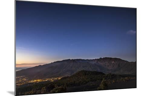 Night Photography with Starry Sky, View on the Caldera De Taburiente-Gerhard Wild-Mounted Photographic Print