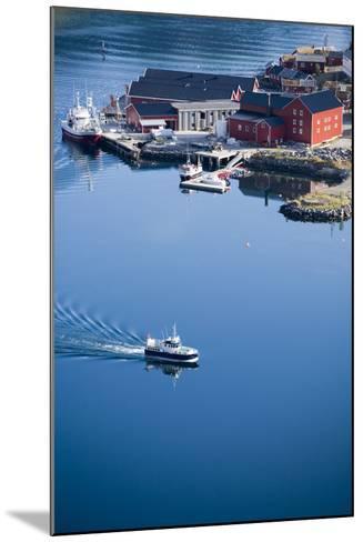Scandinavia, Norway, Lofoten, Moskenesoey, Pure, Fisher-Place, Harbor, Boats-Rainer Mirau-Mounted Photographic Print