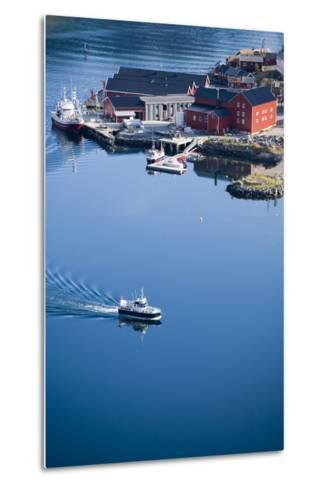 Scandinavia, Norway, Lofoten, Moskenesoey, Pure, Fisher-Place, Harbor, Boats-Rainer Mirau-Metal Print