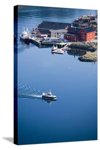 Scandinavia, Norway, Lofoten, Moskenesoey, Pure, Fisher-Place, Harbor, Boats-Rainer Mirau-Stretched Canvas Print
