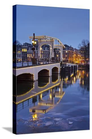Magere Brug (Bridge), Amstel, Amsterdam, the Netherlands-Rainer Mirau-Stretched Canvas Print