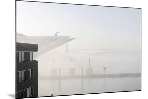 Ground Fog Above the Elbe, Bizarre, Unusual, Elbberg Campus, Altona-Axel Schmies-Mounted Photographic Print