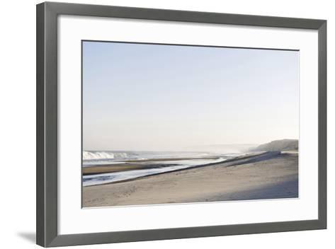 Gentle Light at Sunrise, Surf, Portuguese Atlantic Coast, Praia D'El Rey, Province Obidos, Portugal-Axel Schmies-Framed Art Print
