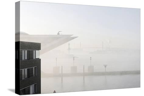 Ground Fog Above the Elbe, Bizarre, Unusual, Elbberg Campus, Altona-Axel Schmies-Stretched Canvas Print