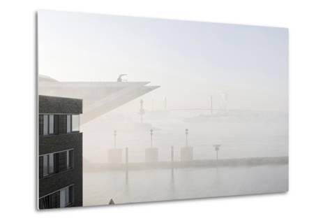 Ground Fog Above the Elbe, Bizarre, Unusual, Elbberg Campus, Altona-Axel Schmies-Metal Print