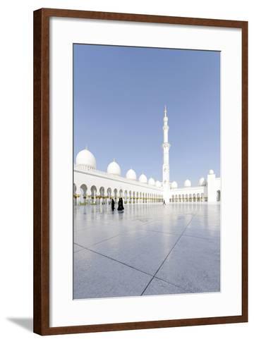 Inner Courtyard, Sheikh Zayed Bin Sultan Al Nahyan Mosque, Al Maqtaa-Axel Schmies-Framed Art Print