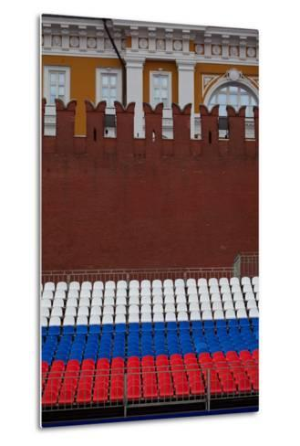 Moscow, Red Square, Stand in National Colours for the Victory Celebration on the 9th of May-Catharina Lux-Metal Print
