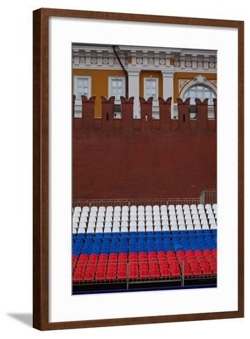 Moscow, Red Square, Stand in National Colours for the Victory Celebration on the 9th of May-Catharina Lux-Framed Art Print