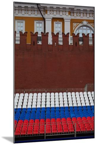 Moscow, Red Square, Stand in National Colours for the Victory Celebration on the 9th of May-Catharina Lux-Mounted Photographic Print
