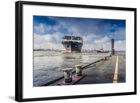 Germany, Hamburg, the Elbe, Fish Market, Harbour-Ingo Boelter-Framed Art Print