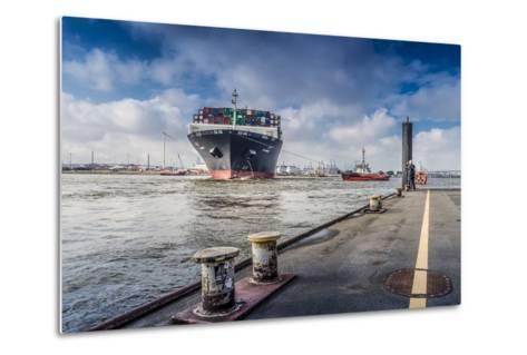 Germany, Hamburg, the Elbe, Fish Market, Harbour-Ingo Boelter-Metal Print