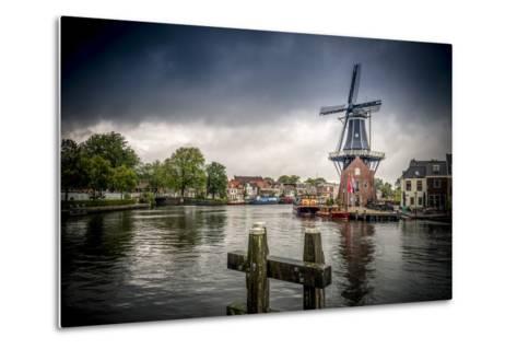 The Netherlands, Haarlem, Mill, Windmill, De Adriaan-Ingo Boelter-Metal Print