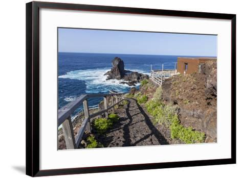 Rock in the Sea Near Santo Domingo, 'Roque De Santo Domingo', La Palma, Canary Islands, Spain-Gerhard Wild-Framed Art Print