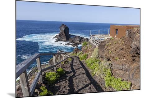 Rock in the Sea Near Santo Domingo, 'Roque De Santo Domingo', La Palma, Canary Islands, Spain-Gerhard Wild-Mounted Photographic Print
