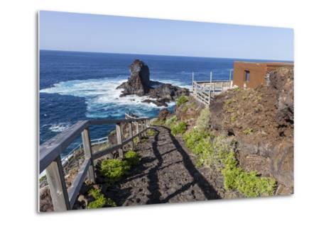 Rock in the Sea Near Santo Domingo, 'Roque De Santo Domingo', La Palma, Canary Islands, Spain-Gerhard Wild-Metal Print