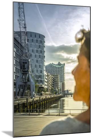 Germany, Hamburg, Hafencity, 'Magellan-Terrassen', 'Sandtorkai', 'Sandtorhafen' (Harbour-Ingo Boelter-Mounted Photographic Print