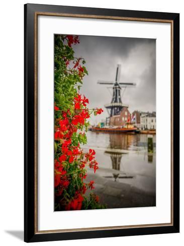 The Netherlands, Haarlem, Mill, Windmill, De Adriaan-Ingo Boelter-Framed Art Print