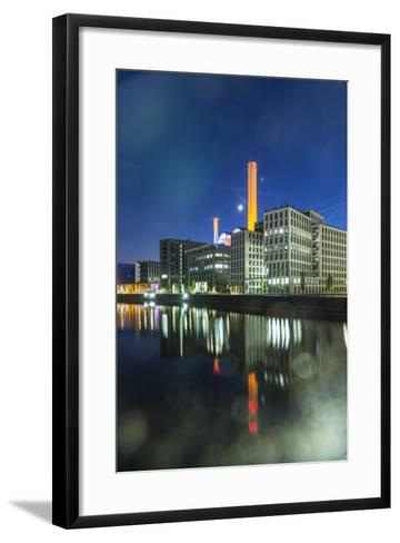Germany, Hesse, Frankfurt on the Main, View at the Office Buildings in the Westhafen at Dusk-Bernd Wittelsbach-Framed Art Print