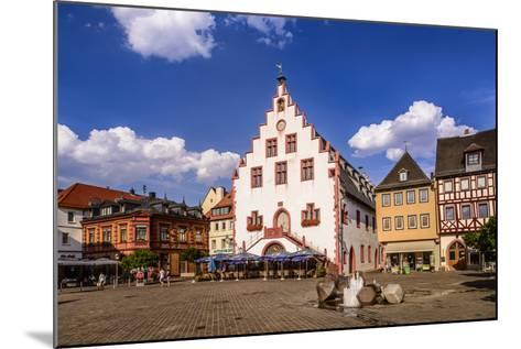 Germany, Bavaria, Lower Franconia, Main-Franconia, Karlstadt, 'Marktplatz' (Square), City Hall-Udo Siebig-Mounted Photographic Print