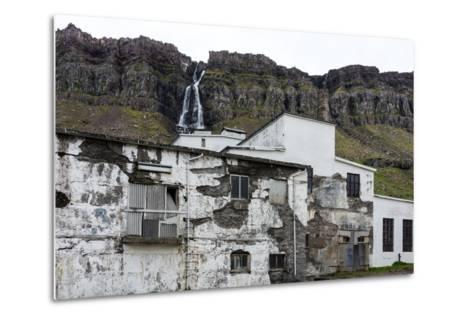 Iceland, Djupavik, Former Fish Factory-Catharina Lux-Metal Print