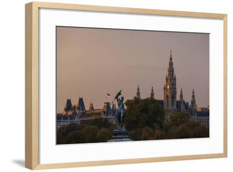 Europe, Austria, Vienna, City Hall, Equestrian Statue Archduke Charles-Gerhard Wild-Framed Art Print