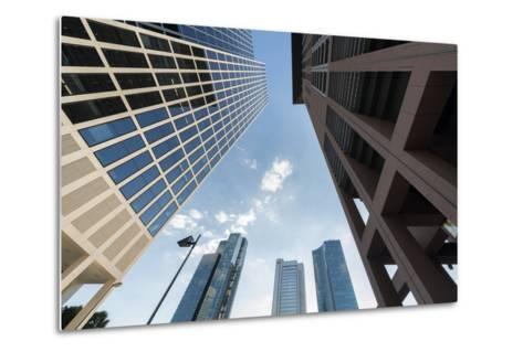 Frankfurt Am Main, Hesse, Germany, Skyscrapers in the Financial District of Frankfurt, Taunusturm-Bernd Wittelsbach-Metal Print