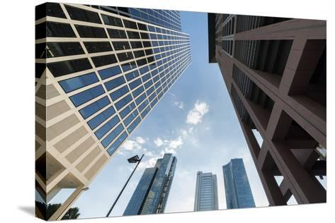 Frankfurt Am Main, Hesse, Germany, Skyscrapers in the Financial District of Frankfurt, Taunusturm-Bernd Wittelsbach-Stretched Canvas Print