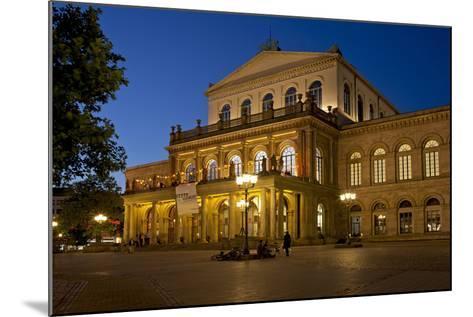Germany, Lower Saxony, Hannover, Landestheater, Evening-Chris Seba-Mounted Photographic Print