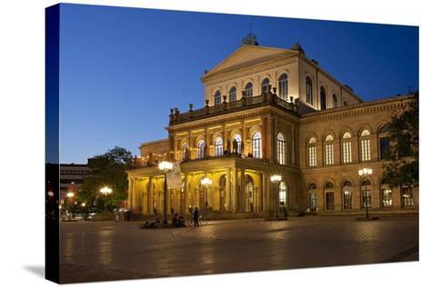 Germany, Lower Saxony, Hannover, Landestheater, Evening-Chris Seba-Stretched Canvas Print