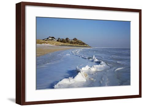 Thatched Roof Houses on the Mellhoern over the 'Blidselbucht'-Uwe Steffens-Framed Art Print