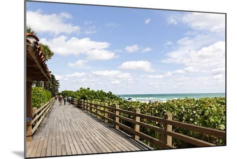 Miami Boardwalk, Wooden Jetty for Strolling from 23 St. to the Indian Beach Park in 44 St., Florida-Axel Schmies-Mounted Photographic Print