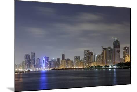 Skyline, Corniche Street, Emirate of Sharjah, United Arab Emirates, Arabian Peninsula-Axel Schmies-Mounted Photographic Print