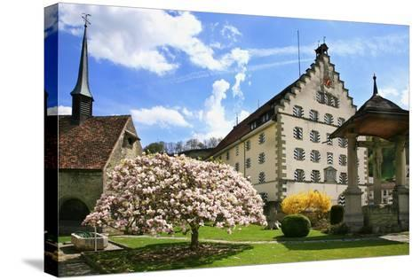 Switzerland, Fribourg on the Sarine River, 'Planche Superieure'-Uwe Steffens-Stretched Canvas Print
