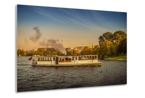 Germany, Hamburg, City Centre, the Alster, Outer Alster, Autumn-Ingo Boelter-Metal Print