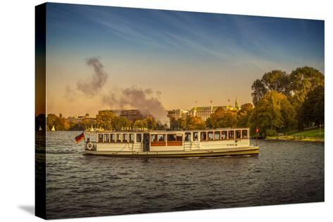 Germany, Hamburg, City Centre, the Alster, Outer Alster, Autumn-Ingo Boelter-Stretched Canvas Print